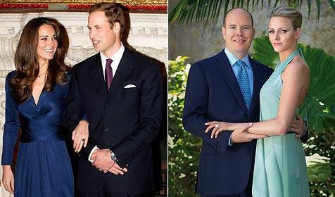 Royale Hochzeiten 2011: Wer heiratet schöner? (Bild: EPA)
