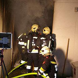 Brand in Ärztehaus - Anwesende merkten nichts (Bild: FF Schärding)