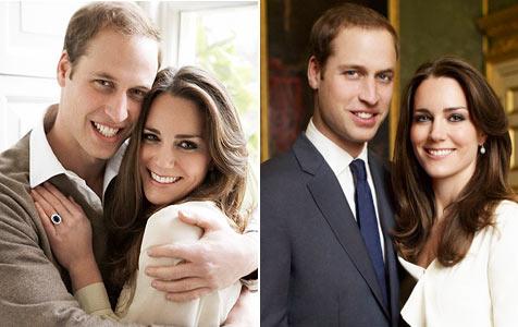Kate und William auf Verlobungsbild engumschlungen