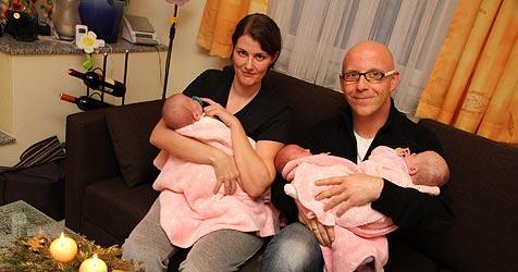 Drei schon daheim - Eltern bangen um viertes Frühchen (Bild: Markus Wenzel)