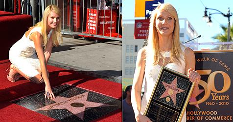 Gwyneth Paltrow ohne Ehemann bei Ehrung mit Stern