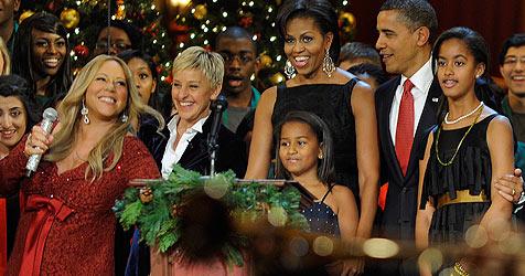"""Carey verriet den Obamas: """"Ja, es werden Zwillinge"""" (Bild: EPA)"""