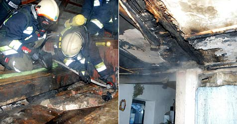 Hausbesitzer wird in Pettenbach durch Brand geweckt (Bild: Einsatzdoku.at)