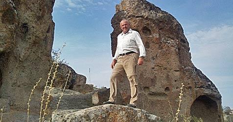 Ex-Skistar David Zwilling zu Fuß in Bethlehem (Bild: privat)