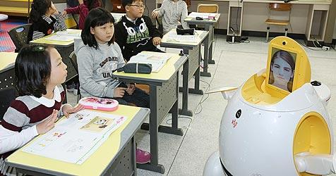 In südkoreanischer Stadt unterrichten Roboter Englisch (Bild: Daego Metropolitan Office)
