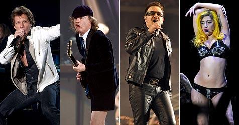 Bon Jovi waren die erfolgreichste Tour-Band 2010 (Bild: EPA)