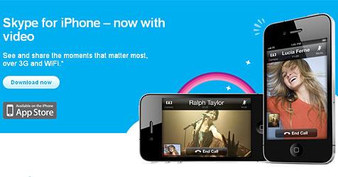 Skype bringt Videotelefonie auf das iPhone