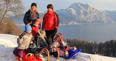 Wintersport - Rodeln schont die Geldtasche (Bild: Marion Hörmandinger)