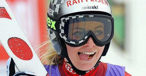 Lara Gut schnappt Lindsey Vonn Sieg weg - Görgl Vierte (Bild: APA/HANS KLAUS TECHT)