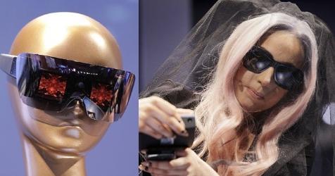 Lady Gaga stellt High-Tech-Sonnenbrille vor (Bild: AP)