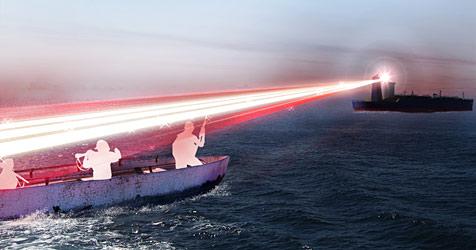 Neuartige Laser-Waffe soll Piraten abschrecken (Bild: BAE Systems)