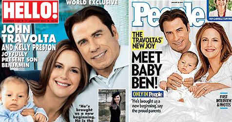 Die ersten Fotos von John Travoltas Söhnchen Benjamin