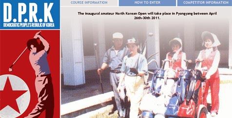 Kim Jong Il lädt Golfer aus aller Welt  zu bizarrem Turnier (Bild: http://www.northkoreanopen.com/)