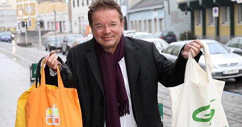 Anschober fordert Verbot für Plastiksackerl (Bild: Markus Wenzel)