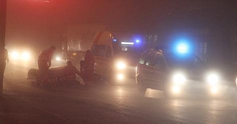 Lenker übersieht in Wels im dichten Nebel Moped (Bild: Matthias Lauber)