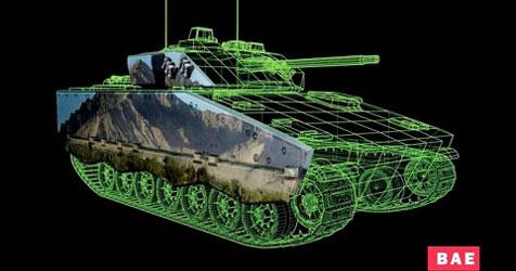 Rüstungsfirma will Panzer mit E-Ink unsichtbar machen (Bild: BAE Systems)