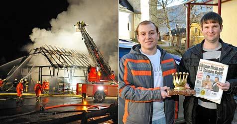 Zeitungsausträger entdecken Brand und retten Familie (Bild: Roland Holitzky)