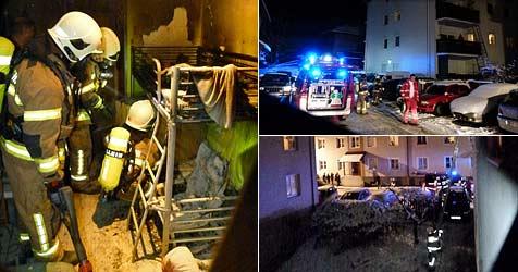 Fünfjähriger löste Brand in Halleiner Wohnhaus aus (Bild: FF Hallein)
