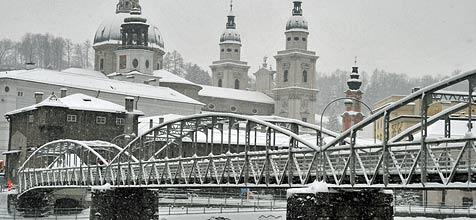 Mozartsteg wird ab Mai  für vier Monate gesperrt (Bild: Wolfgang Weber)