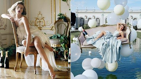 Scarlett Johansson rekelt sich für Edel-Champagner (Bild: © Moët & Chandon)