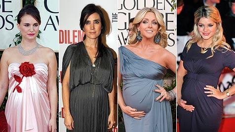 Die glamourösen Outfits werdender Hollywood-Mamas (Bild: EPA)
