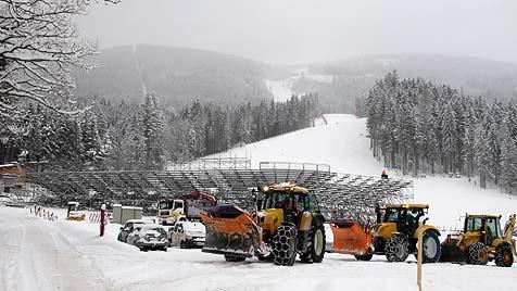 Countdown zum Skiweltcup in Hinterstoder (Bild: Markus Wenzel)