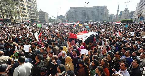 Salzburgerin harrt trotz Volksaufstand in Kairo aus (Bild: EPA)