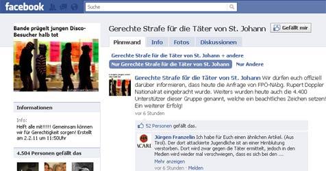 """Tausende fordern auf Facebook """"gerechte Strafe"""""""