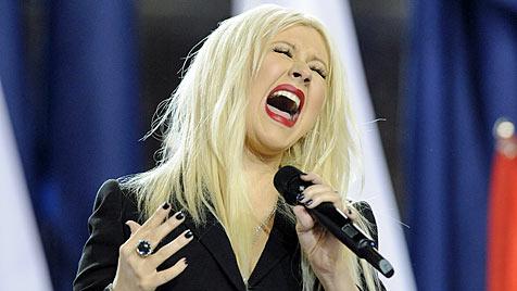Christina Aguilera verhaut US-Hymne beim Super Bowl