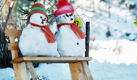 Ort in NÖ will mit Schneemännern Rekord holen (Bild: APA/WeinFranz/Tourismusverein Göstlinger Alpen)