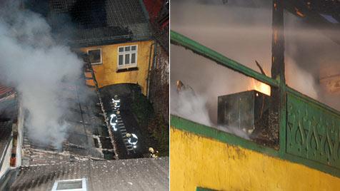 Veranda wird in Neunkirchen zum  Raub der Flammen (Bild: Einsatzdoku.at)