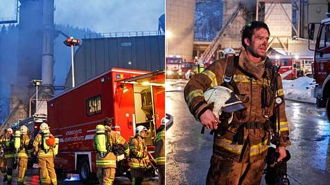 Explosionen und Brand in 30-Meter-Kohlestaub-Silo (Bild: Markus Tschepp)