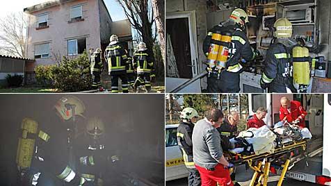 Mann nach Brand im Bezirk Mödling im Spital gestorben (Bild: BFK Mödling)