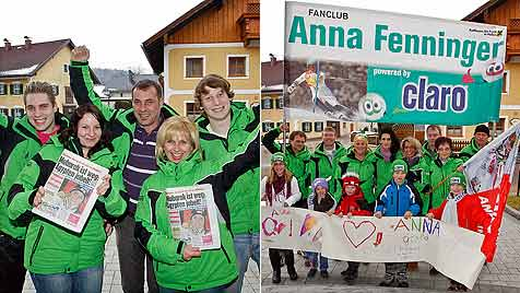 """Familie und Fans: """"Wir haben immer an dich geglaubt"""" (Bild: Markus Tschepp)"""