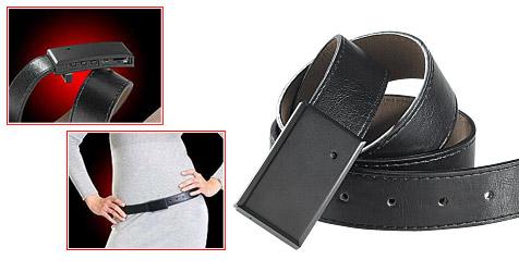 Ledergürtel-Kamera schießt Videoclips aus der Hüfte