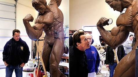 Riesen-Arnold aus Bronze ziert bald Thal bei Graz