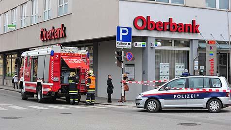 Gasalarm in Traun entpuppte sich als Scherz (Bild: Werner Kerschbaummayr)