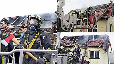 Wohnhausbrand in Strasshof fordert ein Todesopfer (Bild: Klemens Groh)
