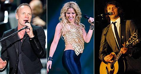 """Die """"Krone"""" bringt Sting, Shakira, Blunt & Co. nach Graz"""
