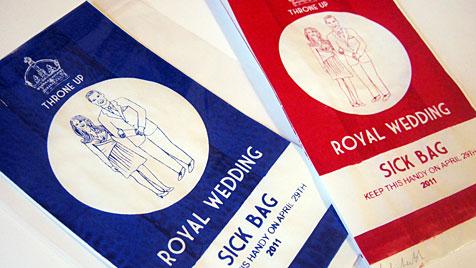 Designerin entwirft Speibsackerl für Hochzeitshasser (Bild: APA/dpa/Handout Lydia Leith)
