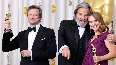 """Oscars für """"Swan"""" Natalie Portman und """"King"""" Firth (Bild: EPA)"""