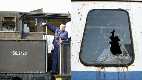 27 historische Fahrzeuge in Museum beschädigt (Bild: Eisenbahnmuseum Strasshof)