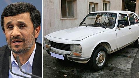Ahmadinejads altes Auto für 2,5 Mio. Dollar versteigert (Bild: AP/AFP)
