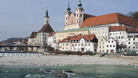 Startschuss für neues Enns-Wehr in Steyr (Bild: Hannes Markovsky)