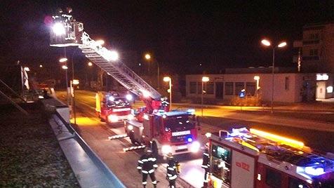 Explosion auf Terrasse von Steyrer Café (Bild: FF Steyr)