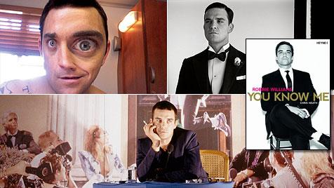 Robbie Williams trägt heimlich rosa Mädchen-Strampler (Bild: Robbie Williams, Josie Cliff, Chris Taylor)