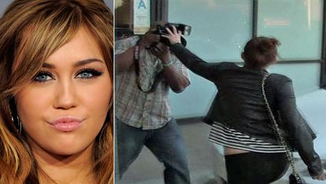 """Hannah-Montana""-Star  Miley Cyrus greift Paparazzo an (Bild: Zoom.in)"