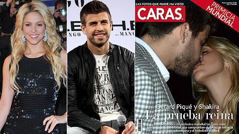 Kuss-Foto von Shakira und Piqué ziert Zeitschrift (Bild: EPA)