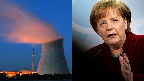 """Merkel lässt """"Isar 1"""" und sieben andere AKWs runterfahren (Bild: AP, dpa)"""