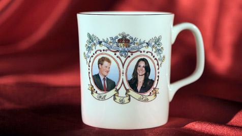 Auf Tasse zur Royal Wedding heiratet Kate den Falschen (Bild: dpa/Guandong Enterprises)
